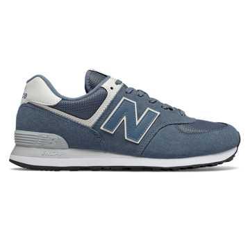 New Balance 574系列男女同款復古休閑鞋, 淺藍