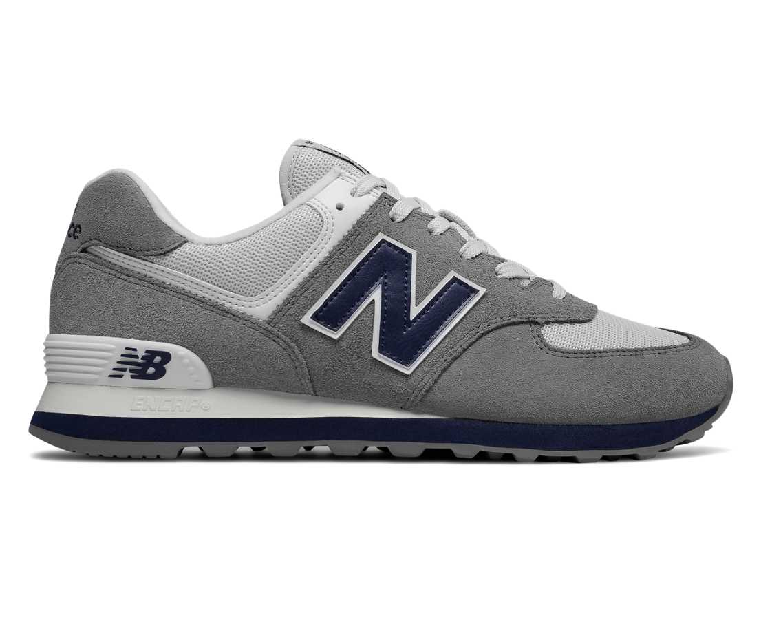 NB 574 Core Plus, Gunmetal with Navy