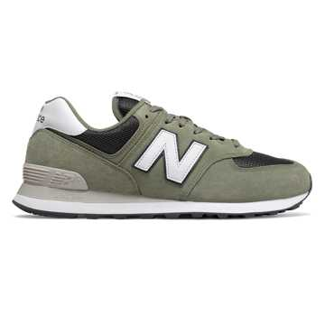 New Balance 574, Mineral Green with Outerspace