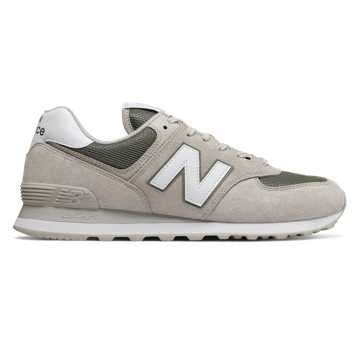 New Balance 574, Light Cliff Grey with Mineral Green