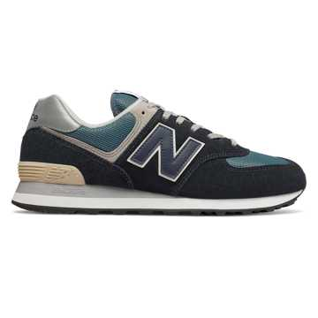 New Balance 574, Dark Navy with Marred Blue