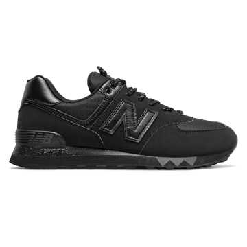 New Balance 574, Black with Gunmetal