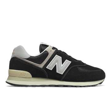 New Balance 574, Black with Bone