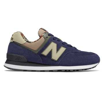 New Balance 574 Hi-Viz, Pigment with Hemp