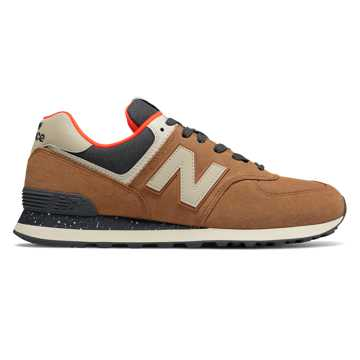 New Balance 574 Hi-Viz, Brown Sugar with Dynamite
