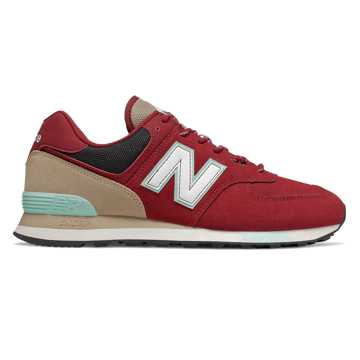 New Balance 574, Team Red with Light Reef