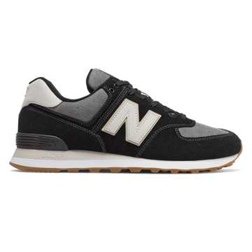 New Balance 574, Black with Grey