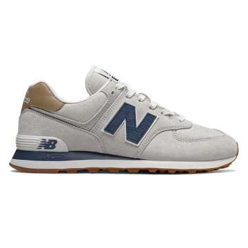 New Balance 574, Light Cliff Grey with Vintage Indigo