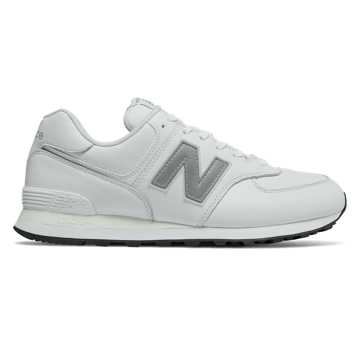 New Balance 574, White Munsell with Nimbus Cloud