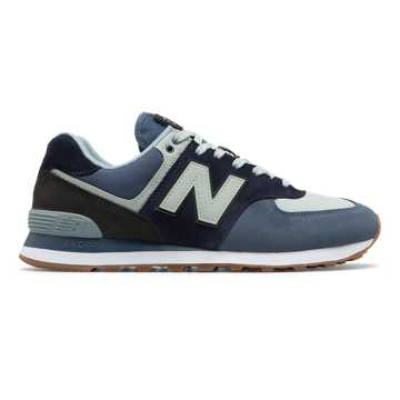 New Balance 574 Military Patch, Vintage Indigo with Black
