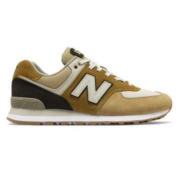 New Balance 574 Military Patch, Hemp with Black