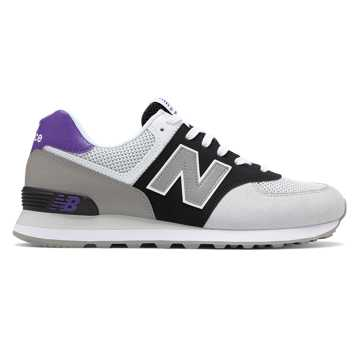 New Balance 574, White with Black