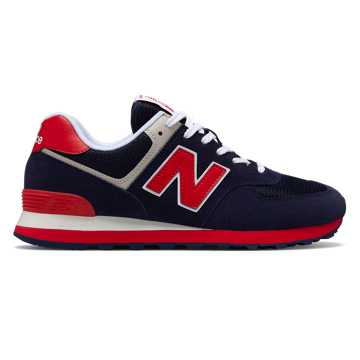 New Balance 574 Essentials, Pigment with Team Red