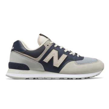 New Balance 574, Grey with Blue