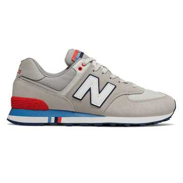New Balance 574 Summer Shore, Nimbus Cloud with Energy Red