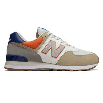 New Balance 574, Incense with Varsity Orange & White