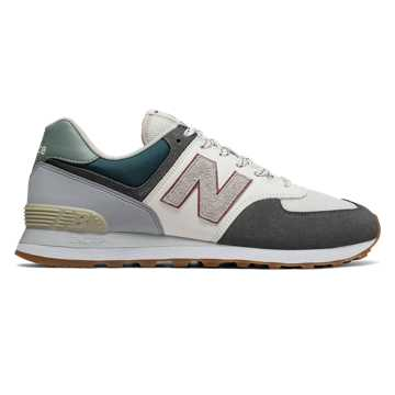 New Balance 574, Magnet with Tropical Green & White