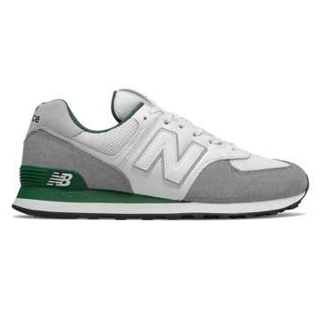 New Balance 574, Marblehead with Team Forest Green