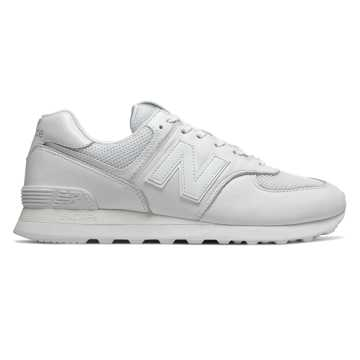 New Balance 574, White with White Exotic