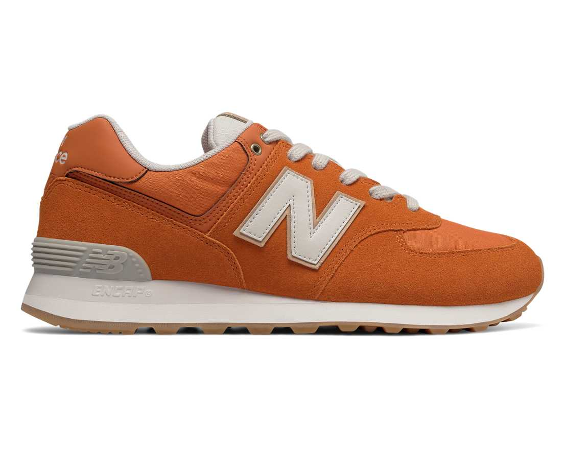NB 574 Natural Outdoor, Burnt Orange with Moonbeam