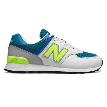 New Balance 574, Deep Ozone Blue with Bleached Lime Glo