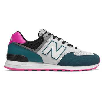 New Balance 574, Dark Neptune with Peony