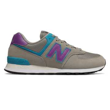 New Balance 574, Rain Cloud with Faded Violet