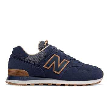 New Balance 574系列男女同款戶外復古休閑鞋, 藏青