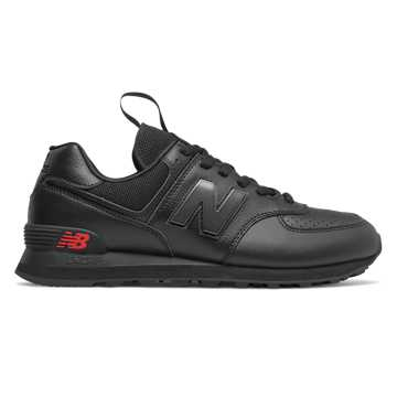 New Balance 574, Black with Black Caviar
