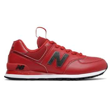New Balance 574, Team Red with Black