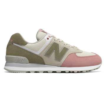 new balance 574 junior grey pink