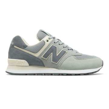 new balance 574 silver mink with incense & blue