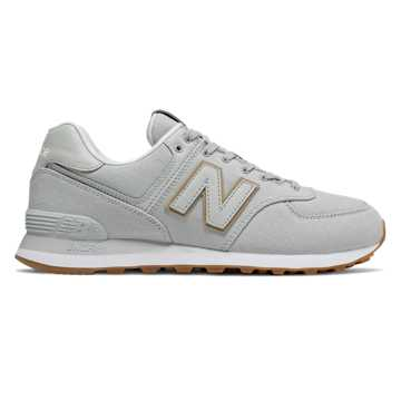 New Balance 574, Light Aluminium with Hemp