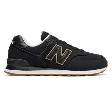 New Balance 574, Black with Hemp