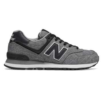 New Balance 574 New Balance, Black with Marblehead & White