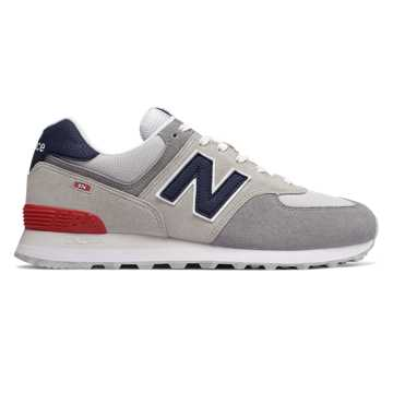 New Balance 574 Marbled Street, Nimbus Cloud with Team Red