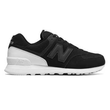 New Balance 574 New Balance, Black with White