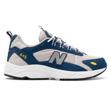 New Balance 615系列男女同款休閑運動鞋, 灰色/藍色