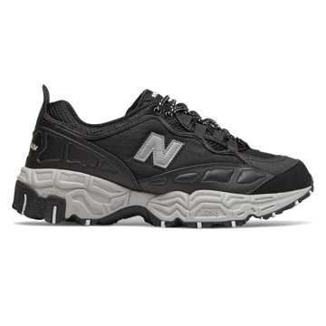 New Balance 801, Black with Metallic Silver