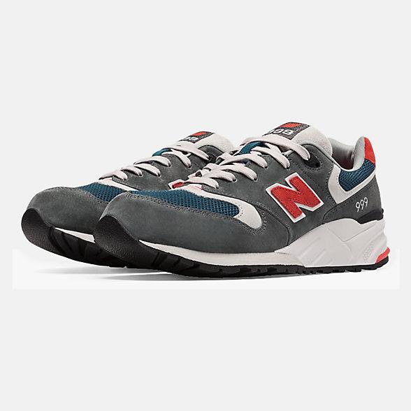 New Balance 999男女同款复古休闲运动鞋, ML999AD