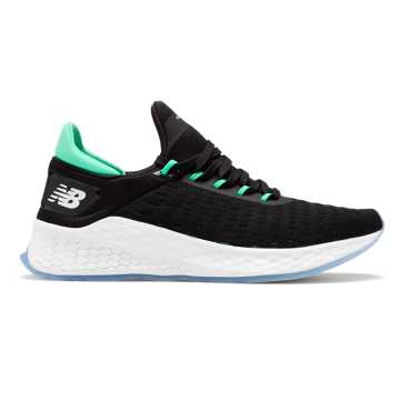 New Balance Fresh Foam Lazr v2 Hypoknit, Black with Neon Emerald