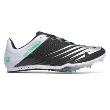 New Balance MD500v6 Spike, Black with White