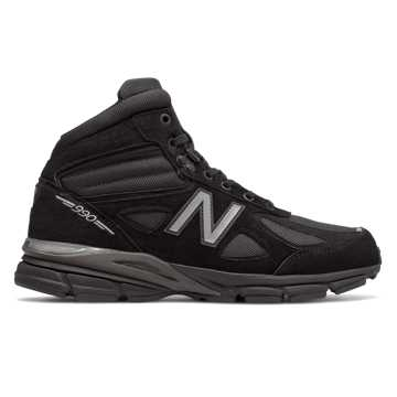 New Balance Mens 990v4 Mid Made in US, Black with Grey