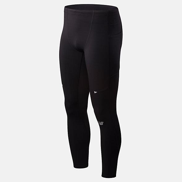 New Balance 男款速干运动紧身长裤, MP01247BK