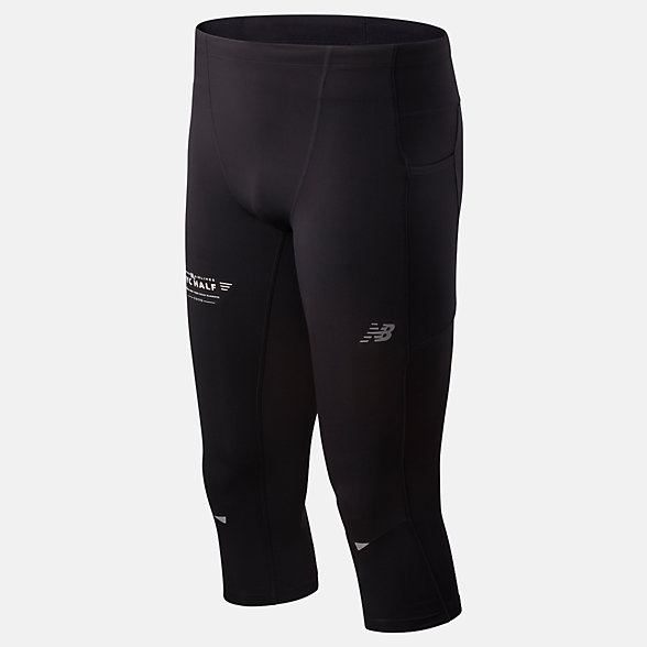 New Balance 2020 United Airlines Half Impact Run Crop Tight, MP01267CBK