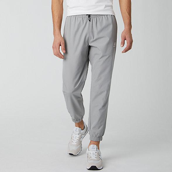 New Balance 男款束腳梭織長褲, MP01502TAG