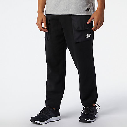 New Balance RWT Fleece Pant, MP03042BK image number null
