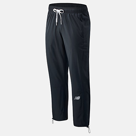 New Balance R.W.T. Lightweight Woven Pant, MP03049BK image number null