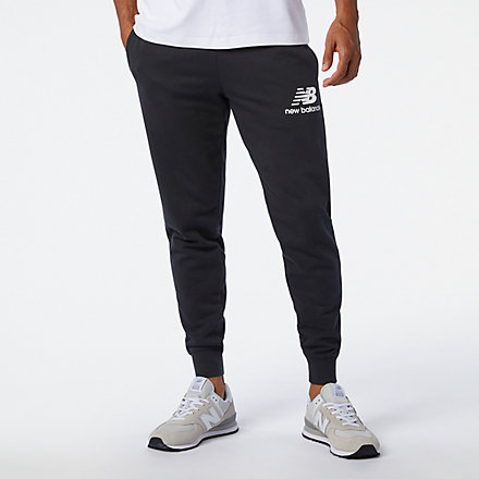 New Balance Essentials Stacked Logo Sweatpant, MP03558BK image number null