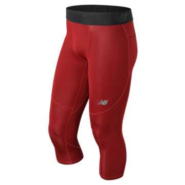 New Balance Challenge 3 Qtr Tight, Red Pepper